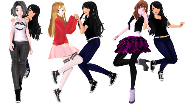 [MMD - Friends] Mis amores [2] by EriPhantomhive