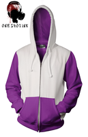 White And Purple Hoodie by karatealive