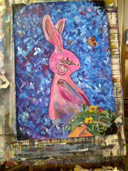 Pink Rabbit by Evanescent-beauty