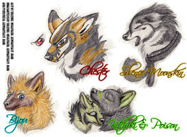 Badge Sketches by ElectricSilence