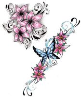 Flower Tattoo designs by Shadow3217
