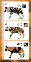African wild dog adoptables by CaledonCat