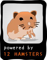 Powered by 12 hamsters by brankovukelic
