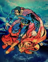 Superman in the Sky by ShaneGreer