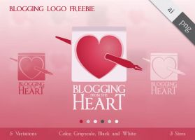 free blogging logo - blogging from the heart by ninahagn