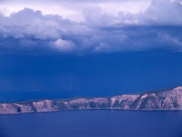Lightning Over Crater Lake by emily1956