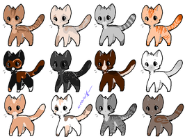 Bunch of kitty adopts 4 - 4/12 OPEN by coldioc