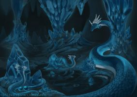 Crystal Dragon Cave by theCoffeeDragon