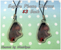 Eeyore Phone Charms [CLOSED] by WanNyan