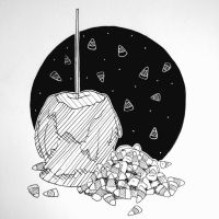 Inktober Day 6 : Candy by TheDreamer843