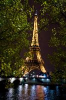 Eiffel Tower At Night by eso-teric