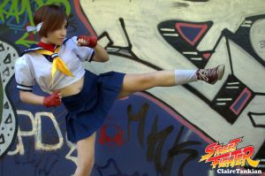 Sakura - Kick by RedfieldClaire