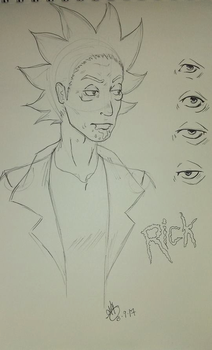 Rick of Rick and Morty by AliceSpades