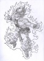 Goku SSJ..... by kingvegito