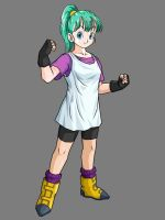 Young Bulma By KingCrackRock by kingcrackrock