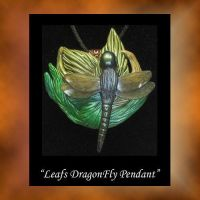 DragonFly Leafs Pendant by KabiDesigns