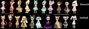 Selfy Outfits 1-20 OPEN (CLOSED) by Spider-Adopts