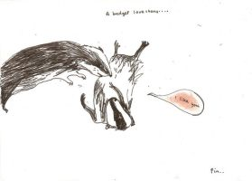 A badger love story by iamthemockturtle