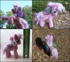 Needle Felted Posable Lily - MLP Plushie Contest by SnowFox102