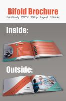 Business Bifold Square Brochure Template by Designhub719