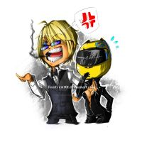 Celty and Shizuo by JinxCrest101