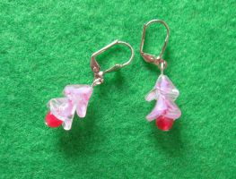Jade Drop Flower earrings by WireMySoul
