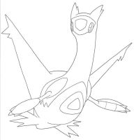 LATIAS used PSYCHIC -ink- by DragonArtist16