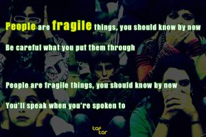 people are fragile by taftar