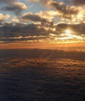 Sunset at 10000 ft by Yox82