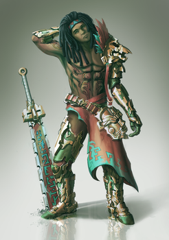 Spirit Warrior by ExCharny