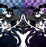 Black rock shooter Innocent Soul (Rock and insane) by Noir-Black-Shooter
