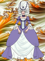Aja in her 1700s gown by CosmicFalcon-70