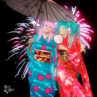 Miku and Luka: New Year by Axel-Doi