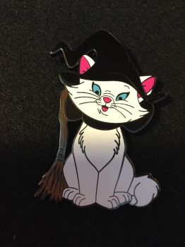 Marie the witch kitten with a broomstick by Ryansmither1