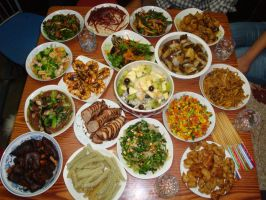 my friends and I party dinner by sinammonite