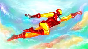 Classic Iron Man by ryuzo