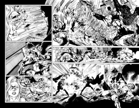 Blackest Night JSA 01 pages 10-11 by julioferreira