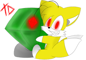 Tails Doll with Master Emerald by Sharia0The0Hedgehog