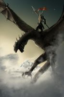 dragon rider by w1dowmak3r