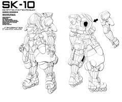 Color Your Own Skate King Robo by Nidaram