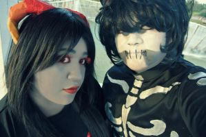 [1] Homestuck - Aradia Megido and Kurloz Makara by BigHeadedMonster