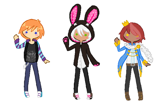 Three Babies Adopts .:OPEN:. by Wolfie-Bases-Adopts