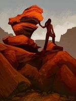 Red Rock Sketch by daPatches