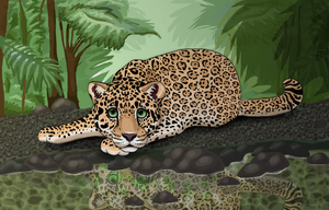 Leopard in the Forest by Starrypoke