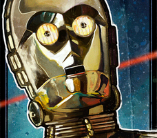 Movie poster Star Wars A New Hope. (animated GIF) by le0arts