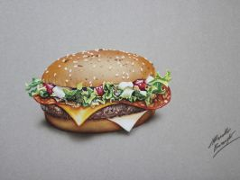 Hamburger DRAWING 3 of 5 by Marcello Barenghi by marcellobarenghi