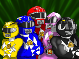 Recreating Nostalgia with the Power Rangers by The1stMoyatia