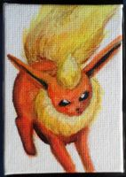Mini Eeveelution canvases - Flareon by Hatters-Workshop