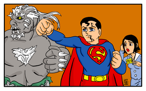 Superman versus Doomsday by EarthmanPrime
