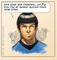 Sylar Spock - Sketch by MichaelCrichlow